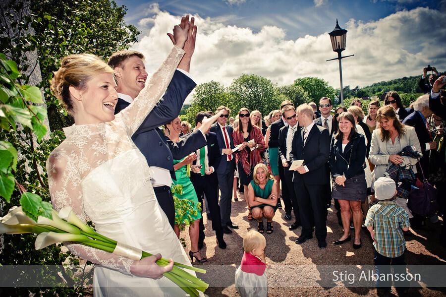 Bröllop i Morlanda kyrka & fest på Slussens pensionat