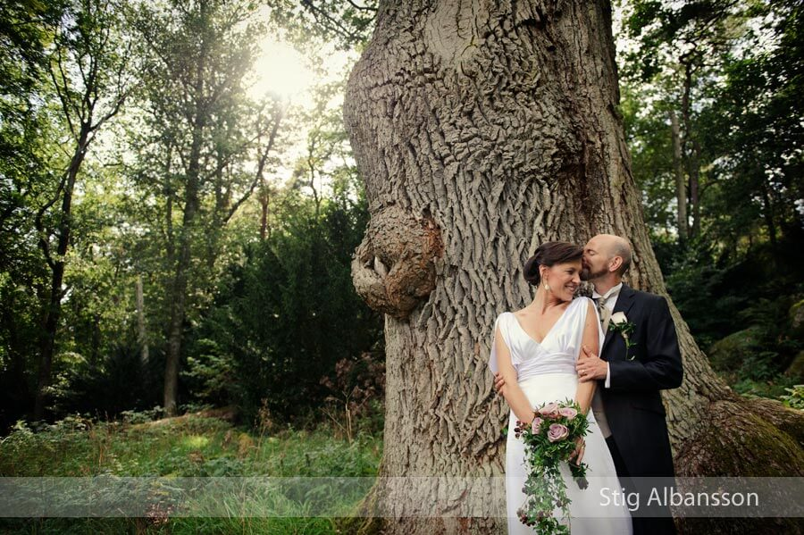 Bröllopsfotografering i Särö Västerskog