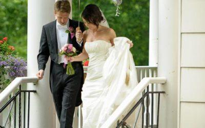 Bröllopsfoto på Villa Odinslund