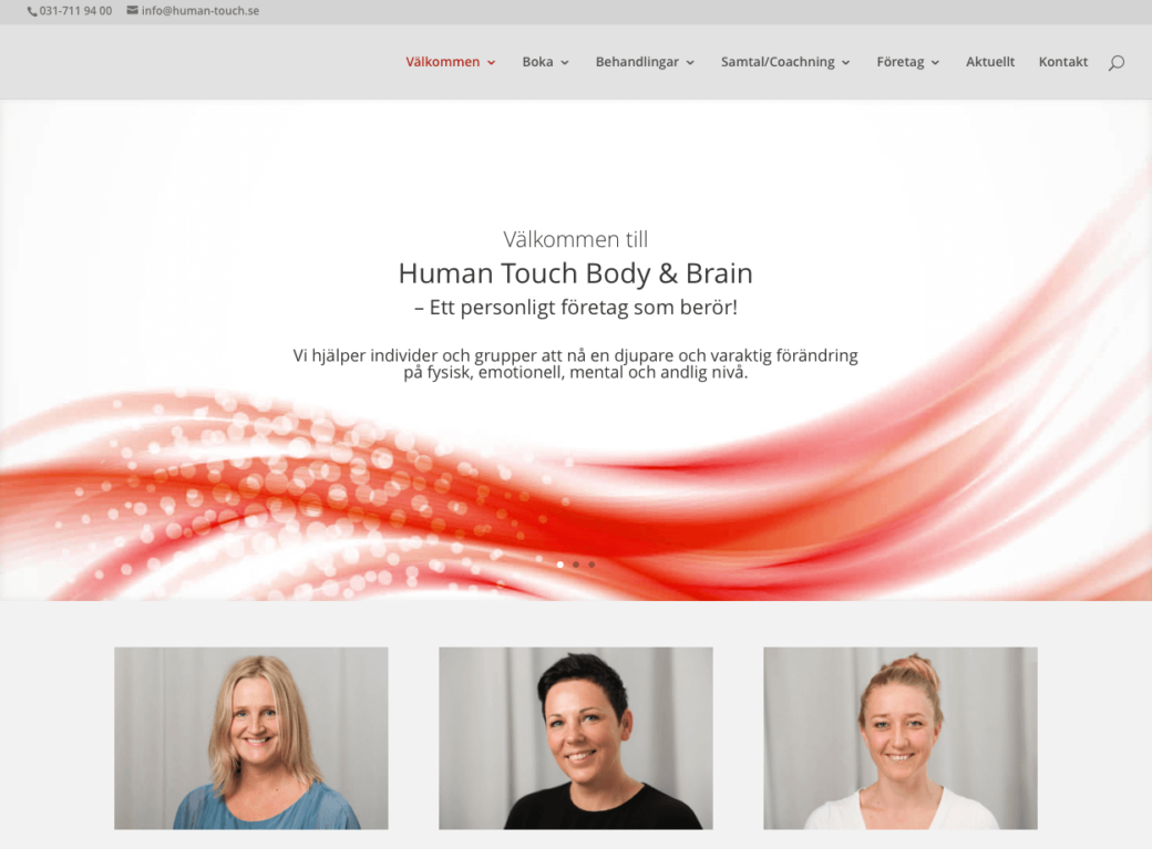 Ny hemsida åt Human Touch Body and Brain.