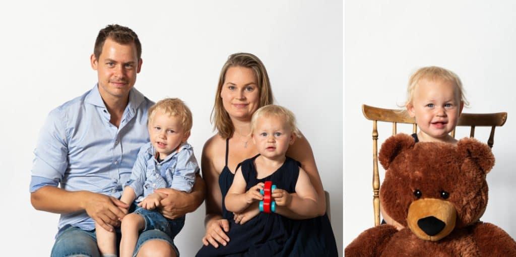 Familjefotografering vid event på Trädgårdsföreningen i Göteborg